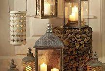 svíčky, lucerny