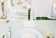 Classic and Chic Mountain Wedding / A classic and romantic black tie mountain wedding with black, white, blush, gold.  This simple yet elegant wedding will have timeless styling with rustic touches that work well with the venue.