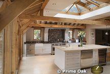 Oak beam kitchen
