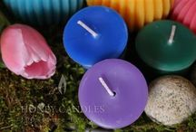 Beeswax Candles - Purple / When you need the color purple and you want a natural candle