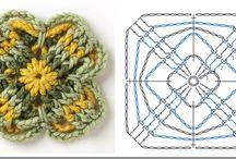 Uncimatto quadrotti-  e dintorni / crochet granny: immagini, schemi.....