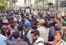SAN DIEGO CALIFORNIA MAY 28 2016 - 35 ARRESTED, ANTI-TRUMP PROTESTERS CLASH WITH POLICE.