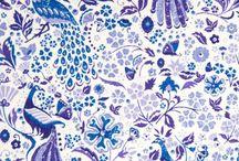 mavi tonlu desenler