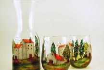 glass decou/painting