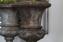 Urns and vintage pots