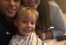 Neymar Jr , Nadine i Davi Lucca