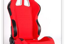 Racing Seats -- CPA1007FRD /  CIPHER AUTO RACING SEATS CPA1007 RED CLOTH - PAIR