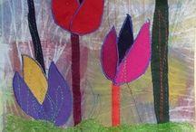 Textiel kunst / werken met lapjes stof