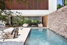 Nápady exterier bazén