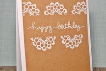Paper dollies / Xmas card using paper doolie