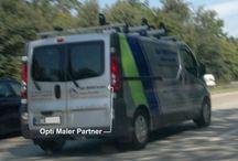 Bitte um Ihre Hilfe / Bitte um Ihre Hilfe. Wer kennt diese Firma, dieses Fahrzeug? Es geht um die Verletzung meiner Marke Opti-Maler-Partner