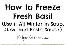 Freezing & using Basil