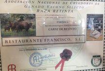 LUGARES CON RETINTO CERTIFICADO / Lugares donde hemos entregado el certificado que acredita que en ese Restaurante se sirve a su distinguida clientela CARNE DE RETINTO CERTIFICADA, la única que garantiza la MARCA, CARNE DE RETINTO 100%.