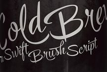 Cold Brew -hand lettering font family