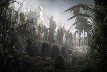 Widoki - ruiny budynków