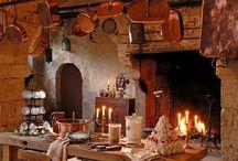 castle dining room.kitchen