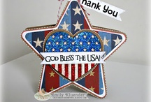 PKS Patriotic Ideas / Celebrate the USA with Peachy Keen Stamps! Stamp a different expression or sentiment to celebrate the Fourth of July, Memorial Day, or Veterans' Day. Personalize your projects with a wide variety of high-quality clear stamps in hundreds of designs!