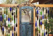 Утилизированное стекло забор