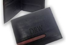 Engraved mens leather wallets from CV Engraving