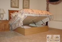 Storage Beds / Are you looking for a more functional room, but only have a small space available, or are looking to create a way to have guests over, but no extra room for them to sleep comfortably? Check out our unique and functional Hidden Beds, Wall Beds, and Mattress Pads for the like!