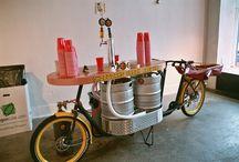 Bière et cargobike / La bière se distribue aussi en vélocargo.