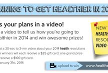 New Year's Health Resolutions / Planning to get healthier in 2014?  Enter healtheo360's New Year's Health Resolution Video Contest to win awesome prizes!   http://www.healtheo360.com/blog/4336/new-years-health-resolution-video-contest