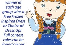 Frozen Coloring Contest / Facebook Coloring Contest-A random winner in each age group wins a free Frozen inspired dress or choice of dress up! Full contest rules can be found on our entry page: https://www.facebook.com/LittleDressUpShop?sk=app_451684954848385&brandloc=DISABLE&app_data=dlt-1