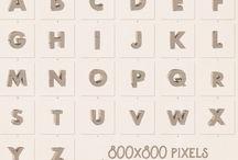 каменный шрифт