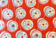 Vintage Print Fabric