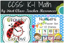 K-1 Math / I hope you find great ideas you can use in your K-1 classroom