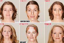 face contouring = makeup