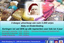 Uitverkoop! / 3 daagse uitverkoop van ruim 5.000 setjes ~ #baby en #kinderkleding. Kortingen tot wel 80% op alle topmerken voor kids tot 4 jaar