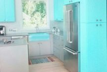 Tiffany Blue Kitchen  / by Courtney Hayes