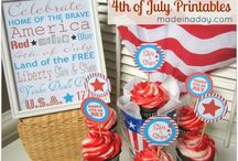 Memorial Day and July 4th / Food, crafts, and decor related to July 4th and Memorial Day
