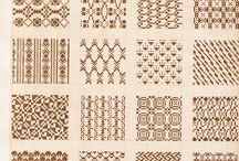 Strikkemønstre / Forskellige former for mønstre
