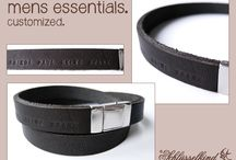 mens essentials by Schlüsselkind© / Customized accessories for gentlemen