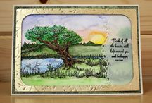 Riverside / CS128D 'Riverside' Clear set contains 12 stamps. Designed by the very talented Sharon Bennett for Hobby Art. Overall size of set - 100mm x 260mm approx. All our clear stamps are made with photopolymer resin.  / by Hobby Art Stamps
