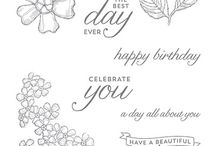 SU! Birthday Blossoms / Inspirations gathered for use with SU! Birthday Blossoms stamp set.