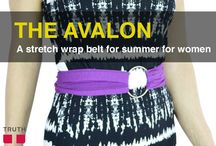 The Avalon Stretch Wrap Belt / Ladies! Truth Belts has a new spring/summer wrap belt for your waist! You can wear the Avalon in so many different ways to change up your look. $35.00 www.truthbelts.com