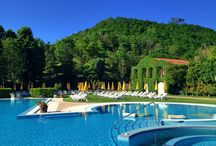 Summertime: let us just relax in the sun! / Summer in our park, our thermal swimming pools and hotel