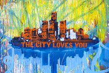 Daniel Tacker Pop Art 2015 / Handmade art pieces made by Daniel Tacker.  Memphis area- artist.  Mixed media abstract art is on canvas or wood.  / by Daniel Tacker Originals