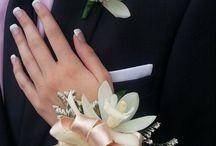 Bouquet flower hand