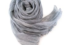 Gobge Natural Dyeing Soft Feel Silk Shawl Scarf ( Gray )