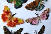 Beaded butterflies and insects