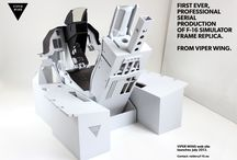F-16 cockpit simulator replica / First ever, professional mass production of assembled and painted MDF frame, delivered to your door.