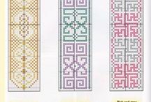 marca paginas en punto de cruz