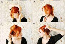 Frisuren und Schminken