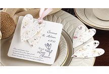 Escort/Place Cards, Favors, & Guest Books / display ideas