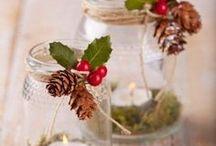 decorazioni natalizie barattoli