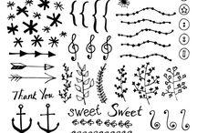 vector doodle set